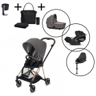 Cybex Mios Travel System with Cybex Cloud Z & Base – with FREE Cybex black changing bag and cupholder