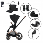 Cybex Priam Travel System with Cybex Cloud Z & Base – with FREE Cybex black changing bag and cupholder