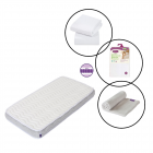 Clevamama ClevaFoam Cotbed Pocket Sprung Mattress 4 Piece Bundle