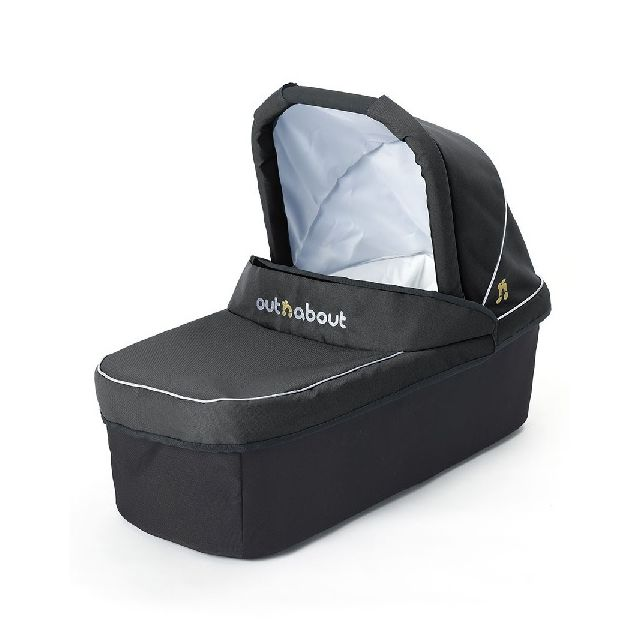 Nipper Double Carrycot- Raven Black