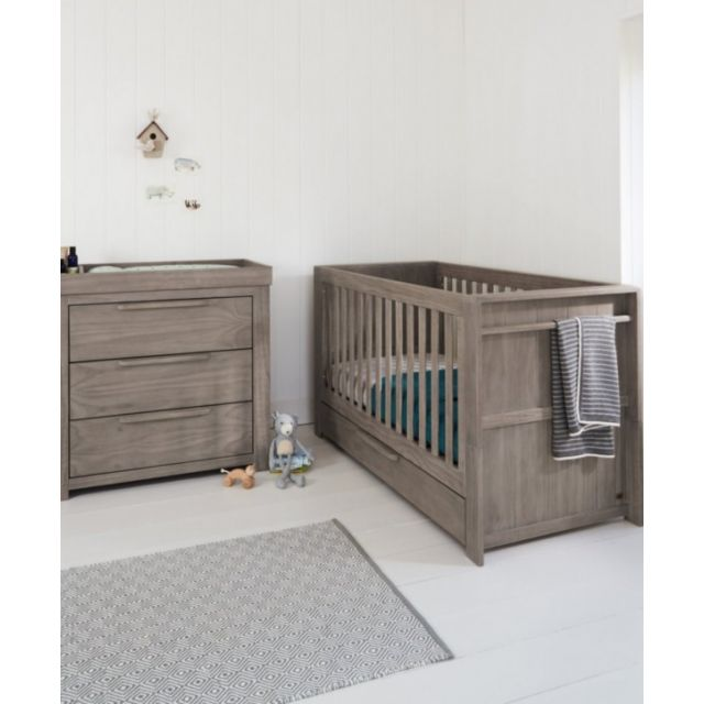 Mamas & Papas Franklin Grey 2 Piece Cotbed Set