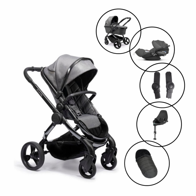 iCandy Peach Travel System with Cybex Cloud Z Car Seat & Base and FREE Duopod
