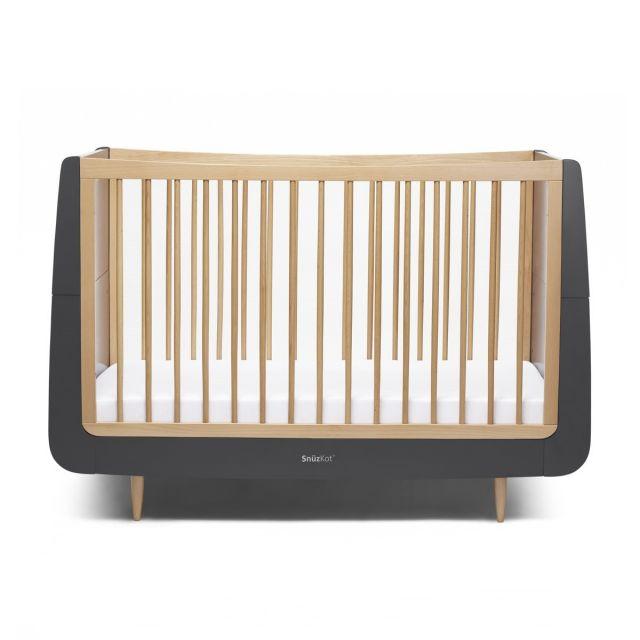 SnuzKot Skandi Cot Bed Slate - Natural