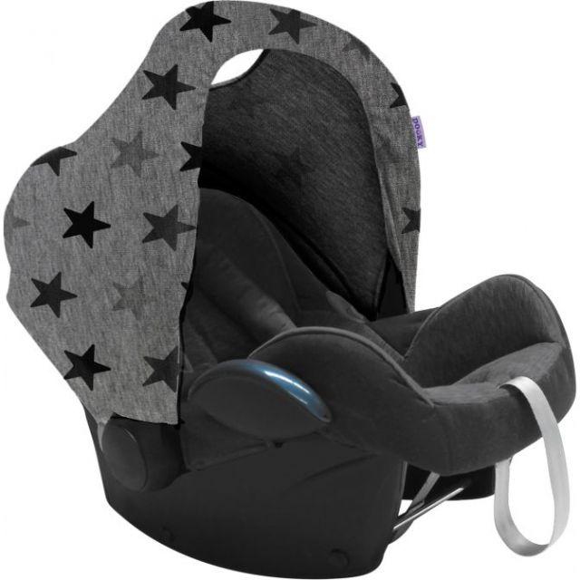 Dooky Car Seat Hoody - Grey Stars