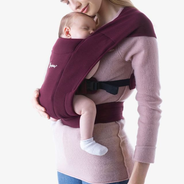 Ergobaby Embrace Newborn Carrier - Burgundy