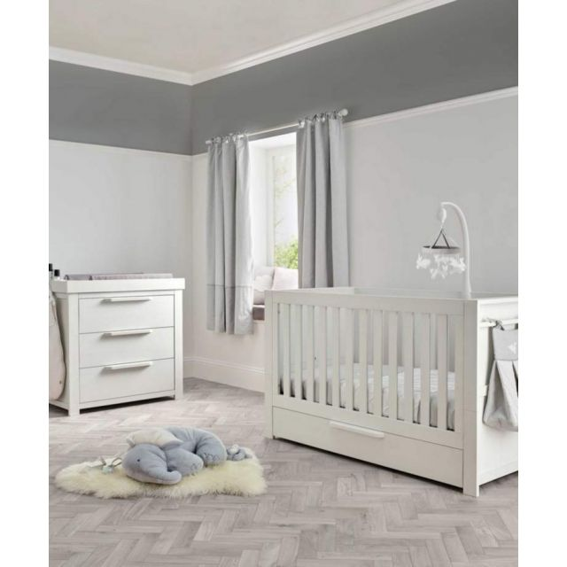 Mamas & Papas Franklin 2 Piece Cotbed Set - White Wash