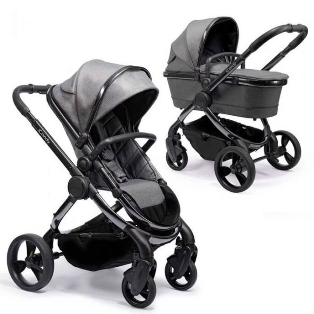 iCandy Peach Pushchair & Carrycot Phantom Dark Grey Twill