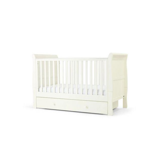 Mamas & Papas Mia Sleigh Cotbed - Pure White