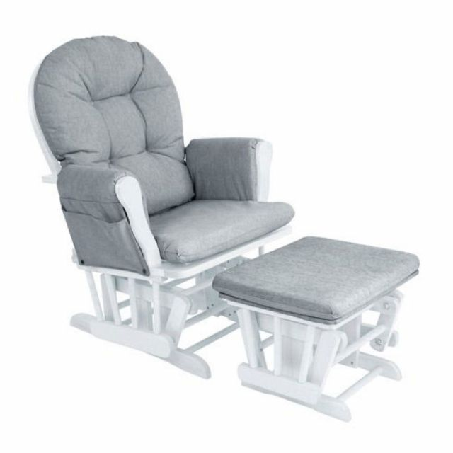Babylo Milan Nursing Chair And Footstool White