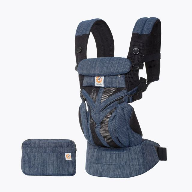 Ergobaby Omni 360 Baby Carrier All-In-One Cool Air Mesh - Indigo Weave