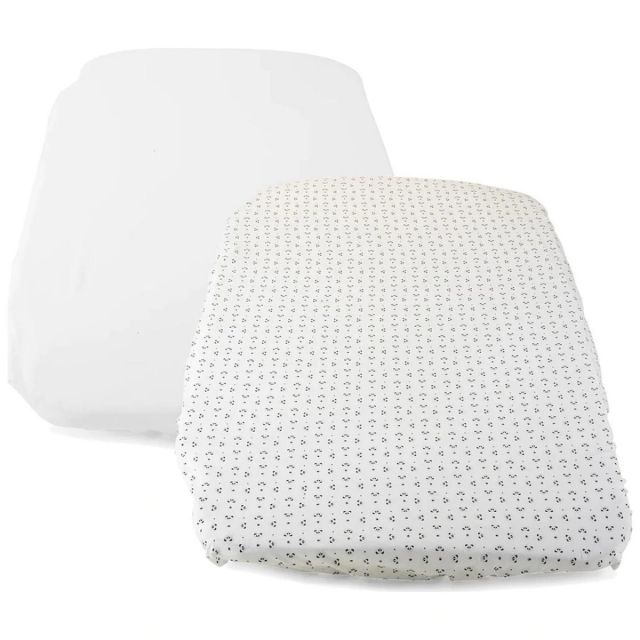 Chicco Next2Me Forever Crib 2 Pack Fitted Sheets – Panda