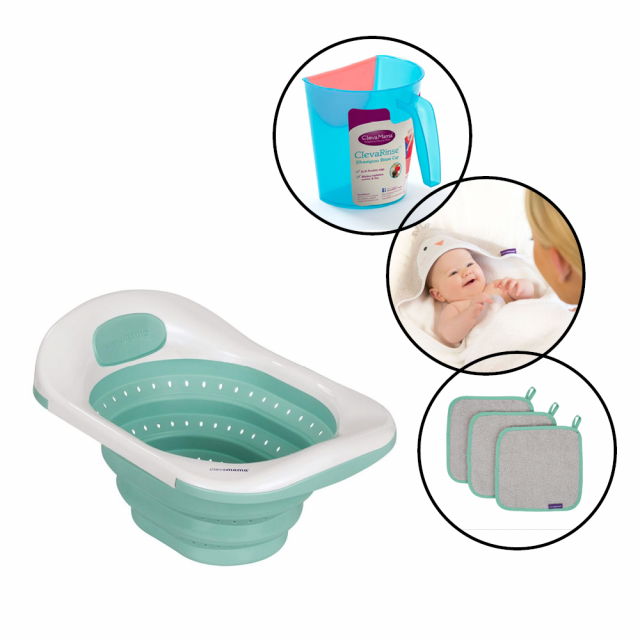 Clevmama ClevaBath Bathtime 4 Piece Bundle