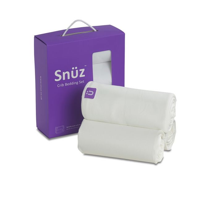 Snuzpod Crib 3 Pack Bedding Set White