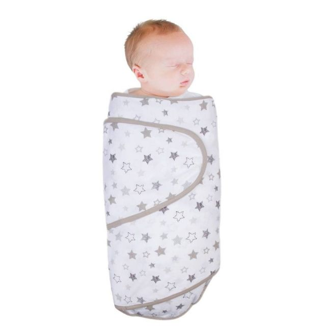 Miracle Blanket Swaddle - Grey Stars