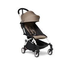 BABYZEN YOYO2 6+ Stroller - White with Taupe