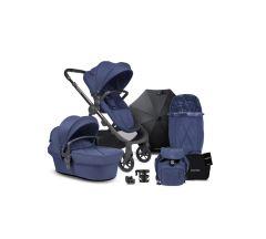 iCandy Orange Pushchair & Carrycot free Changing Bag, Duo Pod, Cupholder, Parasol & Clamp & Sunshde - Royal Blue Marl