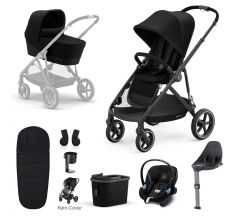 Cybex Gazelle S Mono Travel System with Cybex Aton M iSize - Black frame