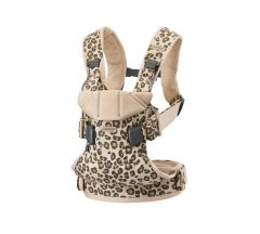 BabyBjorn One Baby Carrier - Beige Leopard Cotton