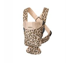BabyBjorn Mini Baby Carrier Cotton - Beige Leopard