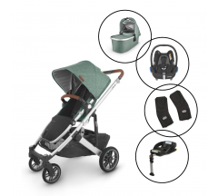Uppababy Cruz V2 Travel System with Maxi Cosi Cabriofix & Base