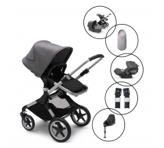 Bugaboo Fox2 Core Complete Travel System with Cybex Cloud Z & Base With Free Newborn Inlay
