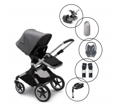 Bugaboo Fox2 Core Complete Travel System with Maxi Cosi Cabriofix & Base With Free Newborn Inlay