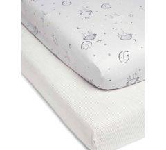 Mamas & Papas Cot Bed Fitted Sheet 2 pk – Cloud