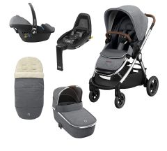 Maxi Cosi Adorra Luxe Package with Free FamilyFix2 Base -  Grey Twillic
