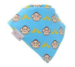Ziggle - Marley Monkey Blue Bib