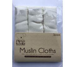 Muslin Cloths 3 Pack -  White