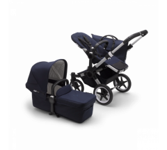Bugaboo Donkey3 Classic Complete Pushchair - Aluminium/Dark Navy