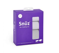 Snuz 3pc Crib Bedding Set – Grey