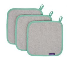 Clevamama Bamboo Baby Washcloth 3pk - Shadow
