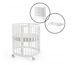 Stokke Sleepi Mini Crib with Dresser & Changer Bundle