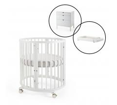 Stokke Sleepi Mini Crib with Dresser & Changer Bundle