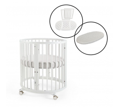 Stokke Sleepi Mini Crib Including Mattress with Sleepi Bed Extension & Mattress