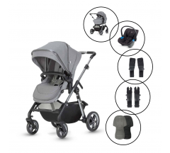 Silver Cross Pacific Bundle with Free Simplicity Car Seat - Autograph Rock