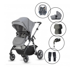 Silver Cross Pacific Autograph Travel System with Maxi Cosi Cabriofix & Base