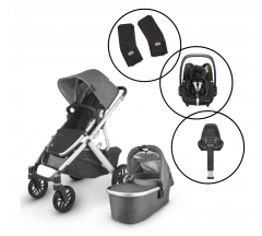 Uppababy Vista V2 Travel System with Maxi Cosi Pebble Pro & FamilyFix3 Base