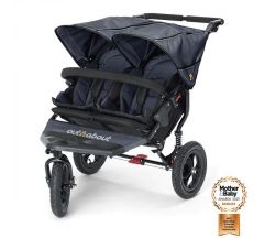 Out 'n' About Nipper 360 V4 Double Pushchair - Royal Navy