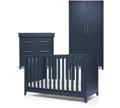 Mamas & Papas Melfi 3 Piece Cotbed Range with Dresser & Wardrobe  - Midnight