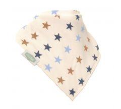 Ziggle - Cream Bib With Blue and Beige Stars