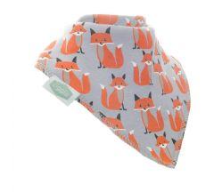 Ziggle - Foxes on grey bib